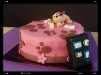 Tarta Perrito y iPhone
