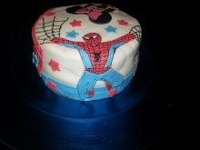Tarta Spiderman y Minnie